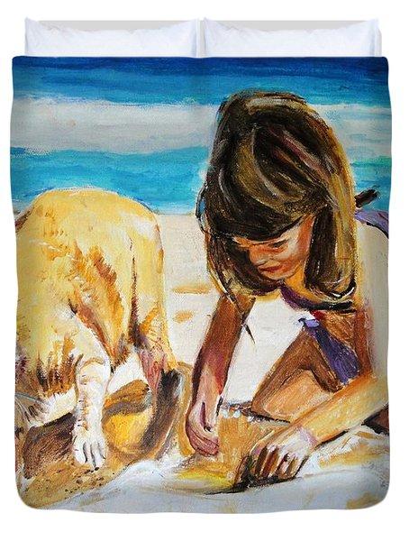 Sandi's Helper Duvet Cover by Judy Kay