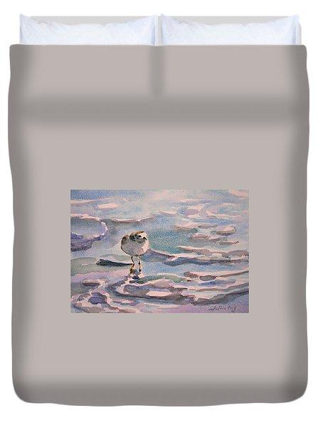 Sandpiper And Seafoam 3-8-15 Duvet Cover