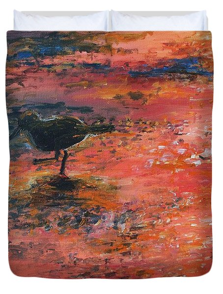 Sandpiper Cape May Duvet Cover by Eric  Schiabor