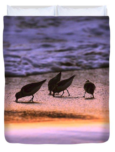 Sandpiper Morning Duvet Cover