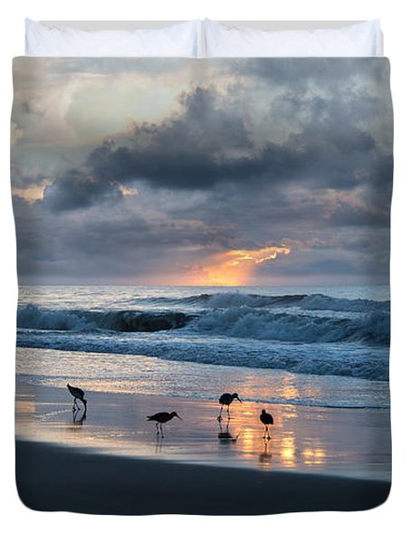 Sandpipers In Paradise Duvet Cover