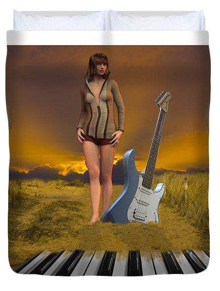 Sands Of Music Duvet Cover
