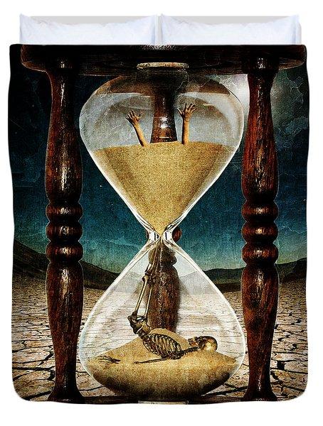 Sands Of Time ... Memento Mori  Duvet Cover