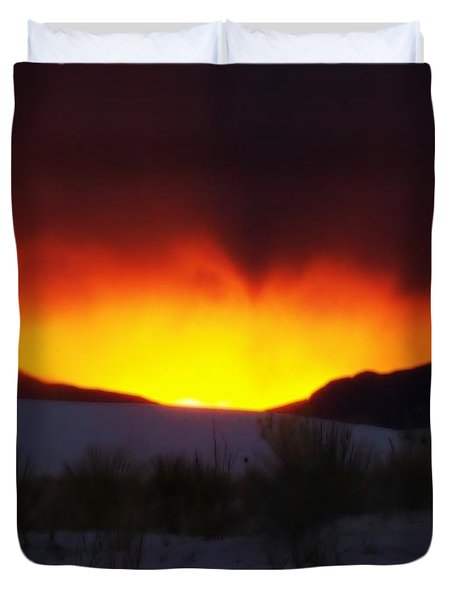 Sands Sunset  Duvet Cover