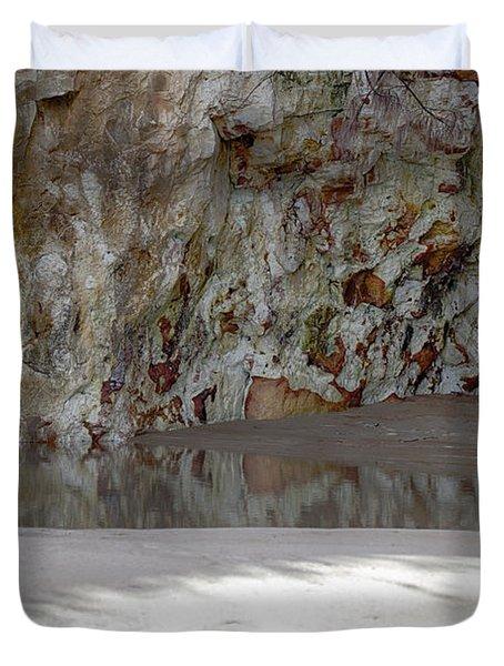 Sandstone Cave V2 Duvet Cover by Douglas Barnard