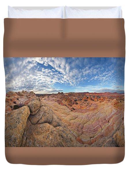 360 View Of Vermillion Cliffs  Duvet Cover