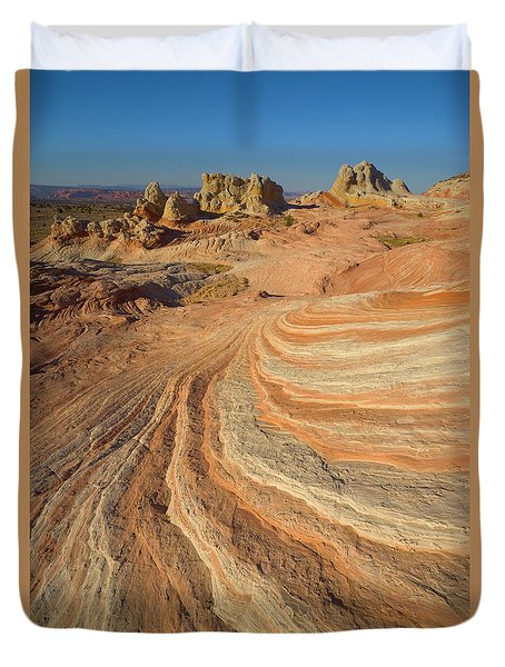 Sandstone Formations Coyote Buttes Duvet Cover