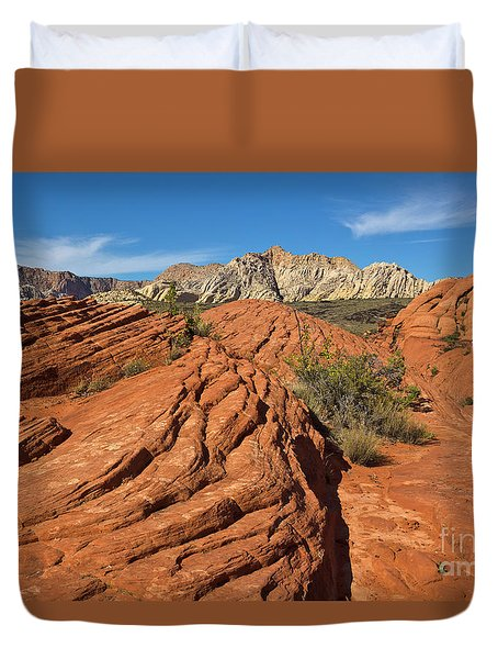 Sandstone Formations Snow Canyon Duvet Cover