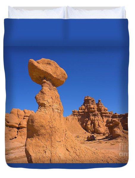 Sandstone Hoodoos In Goblin Valley  Duvet Cover