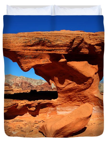 Sandstone Landscape Duvet Cover by Bob Christopher