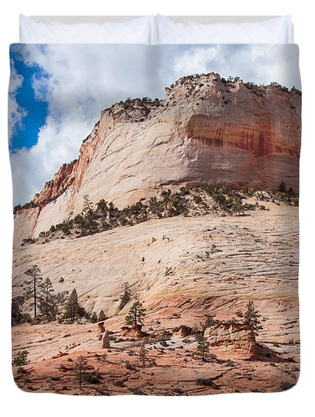 Duvet Cover featuring the photograph Sandstone Mountain by John M Bailey