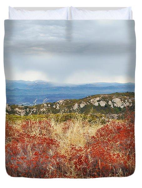 Sandstone Peak Fall Landscape Duvet Cover