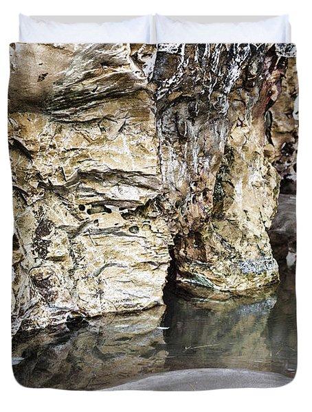 Sandstone Reflections Duvet Cover by Douglas Barnard