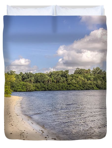 Duvet Cover featuring the photograph Sandy Beach by Jane Luxton