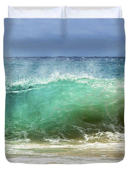 Sandy Beach Shorebreak 1 Duvet Cover by Leigh Anne Meeks