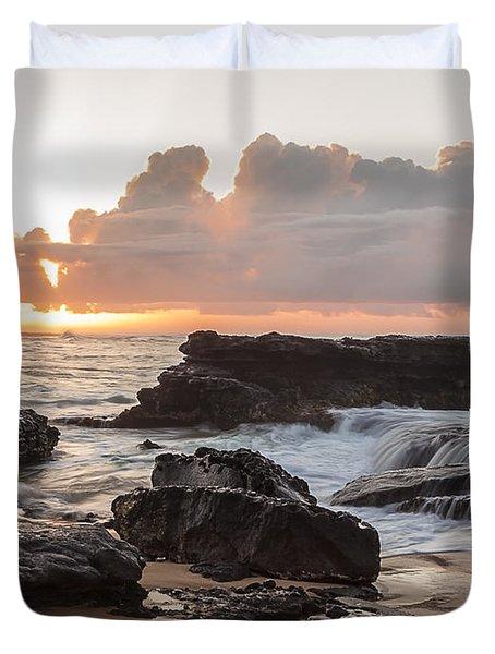 Sandy Beach Sunrise 6 Duvet Cover by Leigh Anne Meeks