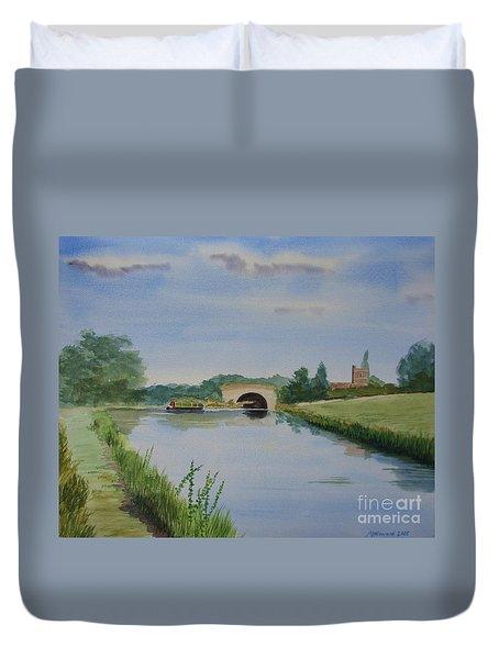 Sandy Bridge Duvet Cover by Martin Howard