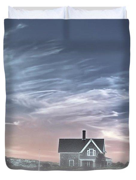 Sandy Neck Lighthouse Duvet Cover by Susan Candelario