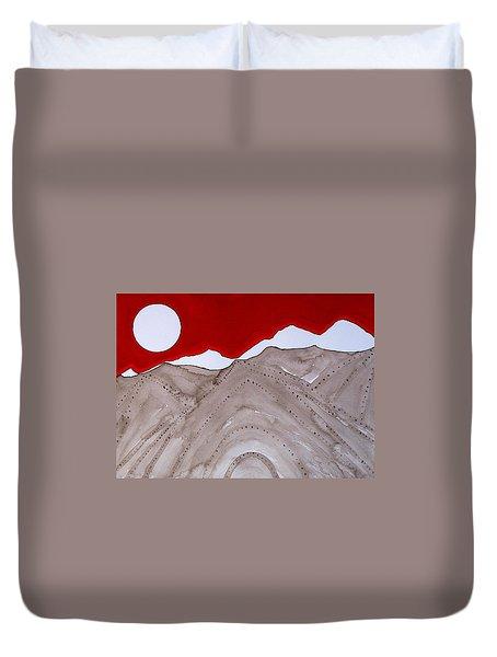 Sangre De Cristo Peaks Original Painting Duvet Cover