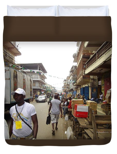 Sani Abacha Street- Year 2011 Duvet Cover