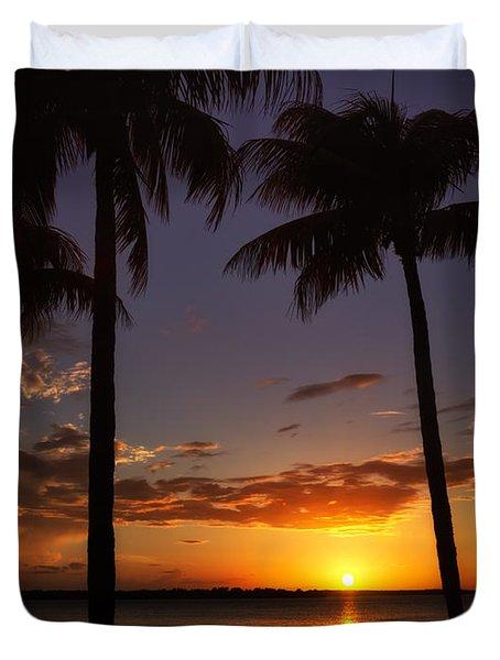 Sanibel Island Sunset Duvet Cover