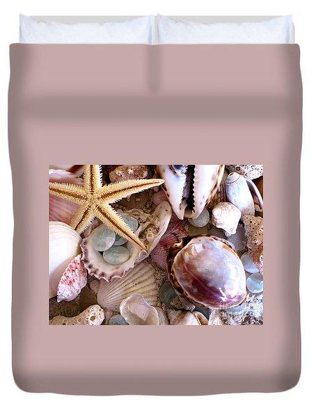 Sanibel Shells Duvet Cover
