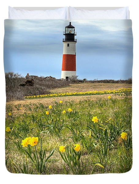 Sankaty Lighthouse Nantucket Duvet Cover