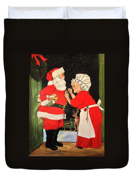Santa And Mrs Duvet Cover