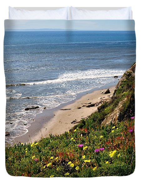 Santa Barbara Beach Beauty Duvet Cover