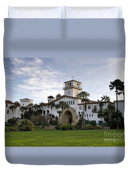 Duvet Cover featuring the photograph Santa Barbara by David Millenheft