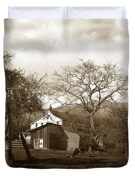 Santa Barbara Mission California Circa 1890 Duvet Cover