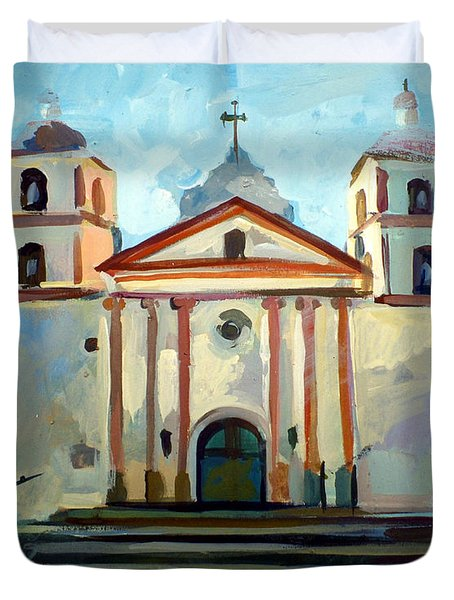 Santa Barbara Mission Duvet Cover by Filip Mihail