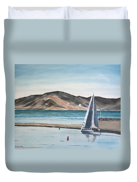 Santa Barbara Sailing Duvet Cover