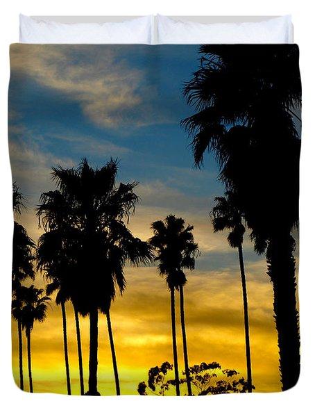 Santa Barbara Sunset Duvet Cover