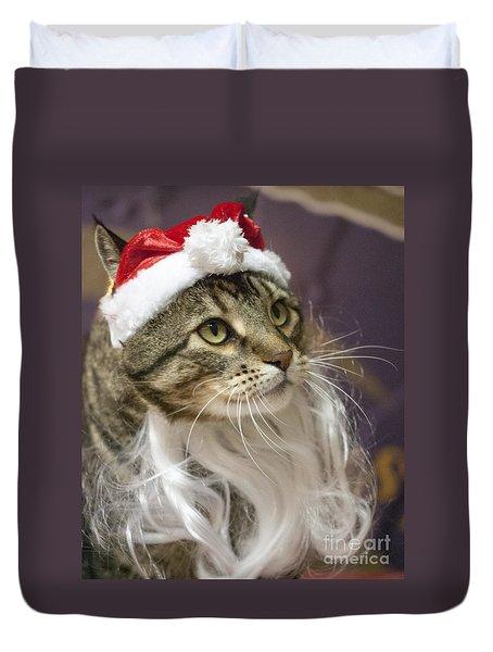Santa Cat Duvet Cover