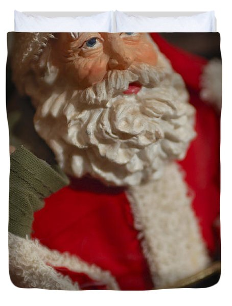 Santa Claus - Antique Ornament - 02 Duvet Cover by Jill Reger