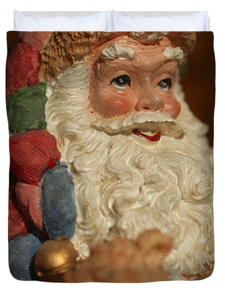 Santa Claus - Antique Ornament - 09 Duvet Cover by Jill Reger