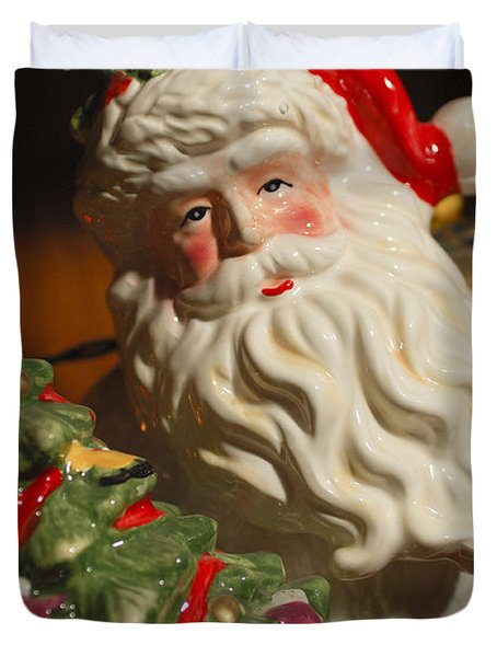 Santa Claus - Antique Ornament - 10 Duvet Cover by Jill Reger