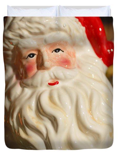 Santa Claus - Antique Ornament - 19 Duvet Cover by Jill Reger