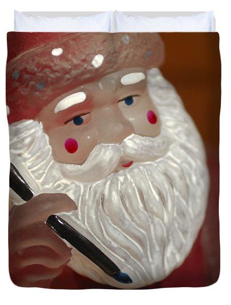 Santa Claus - Antique Ornament - 24 Duvet Cover by Jill Reger