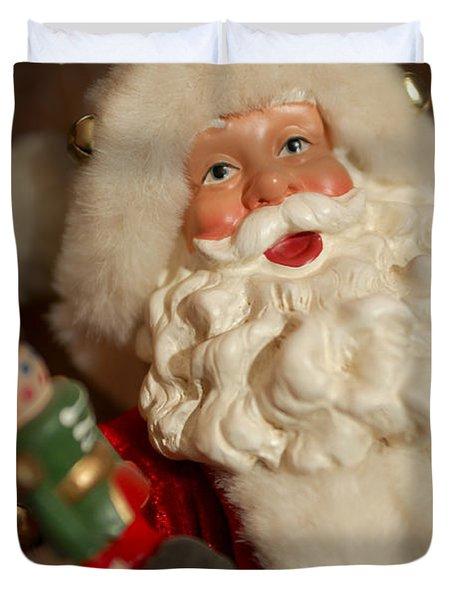 Santa Claus - Antique Ornament - 25 Duvet Cover by Jill Reger
