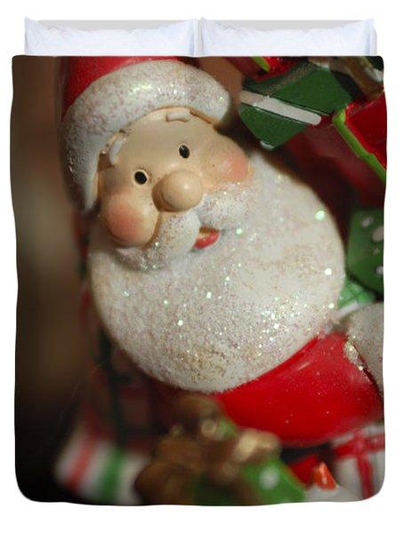 Santa Claus - Antique Ornament - 28 Duvet Cover by Jill Reger
