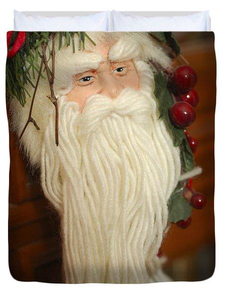 Santa Claus - Antique Ornament - 29 Duvet Cover by Jill Reger