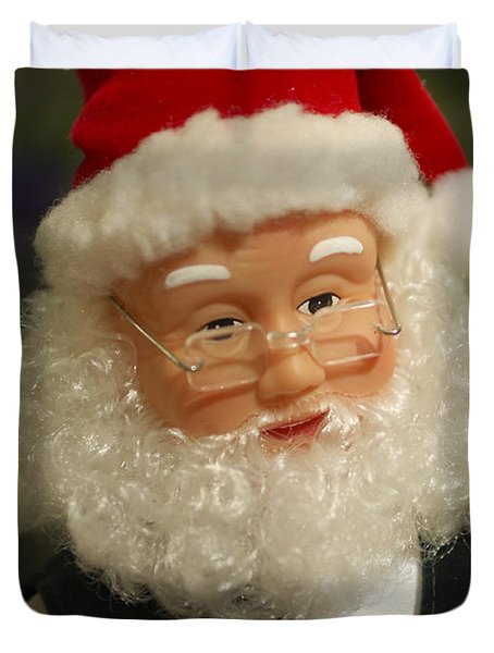 Santa Claus - Antique Ornament - 30 Duvet Cover by Jill Reger