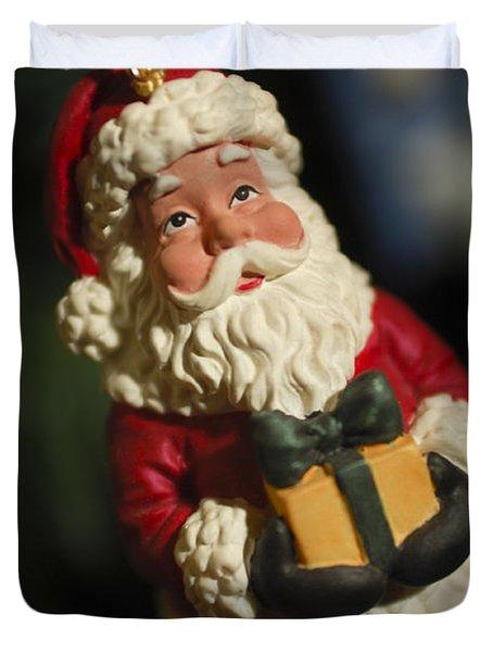 Santa Claus - Antique Ornament - 31 Duvet Cover by Jill Reger