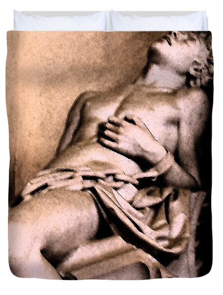 Santa Croche Sculpture Duvet Cover
