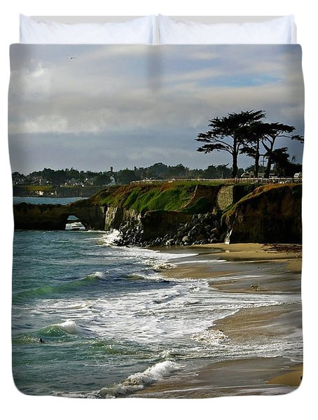 Santa Cruz Beach Duvet Cover