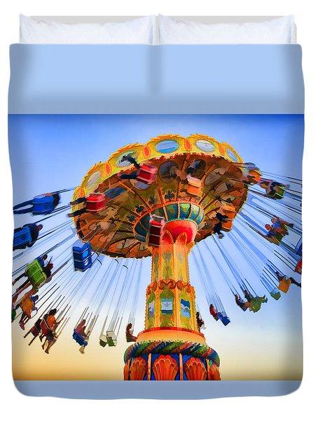 Santa Cruz Seaswing At Sunset 6 Painterly Duvet Cover