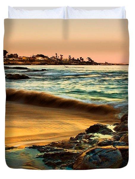 Santa Cruz Sunset Duvet Cover