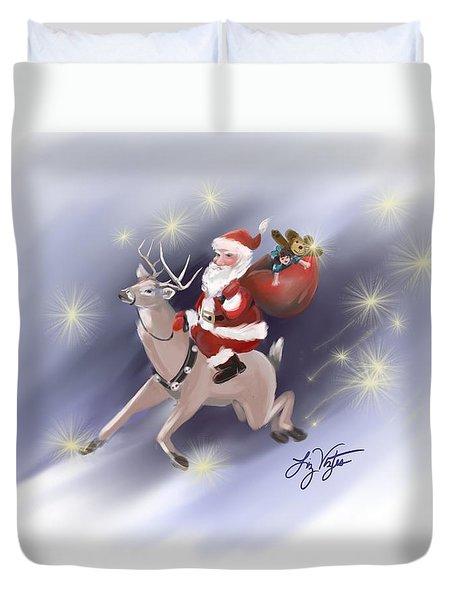 Santa Delivers Duvet Cover